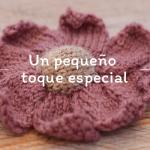 Flor tejida a dos agujas: patrón gratis