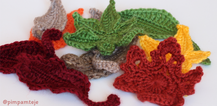 Hojas de ganchillo - crochet