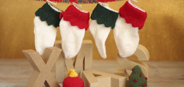 Cómo tejer calcetines navideños