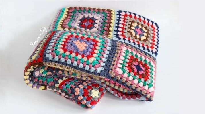 Cómo tejer una manta de granny squares | Pim, pam, teje