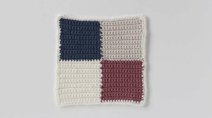 Cómo tejer una manta de granny square