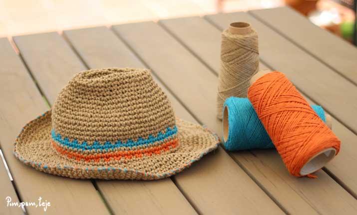 Cómo tejer un sombrero de ganchillo para el verano  b1e2e2710f2