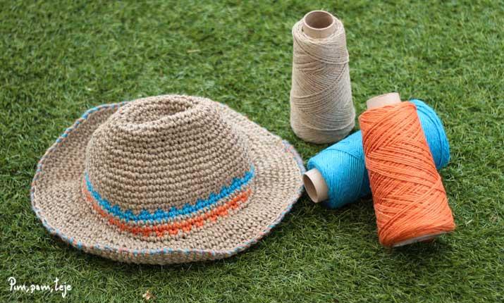 cómo tejer un sombrero de ganchillo para verano