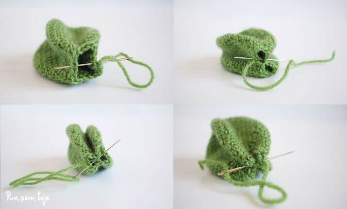 Patrón para tejer un cactus de ganchillo tipo amigurumi | Pim, pam, teje