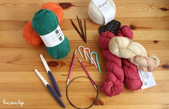dónde comprar online lanas y material para tejer