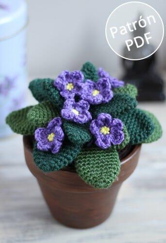 Patrón para tejer Violetas de ganchillo