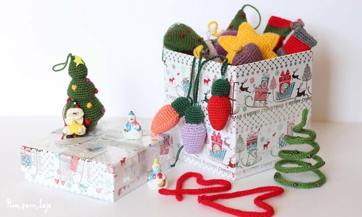 Patrones para tejer adornos de Navidad