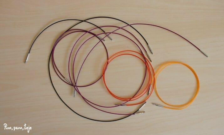 Cables para tejer
