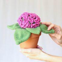 5 patrones para tejer plantas de ganchillo