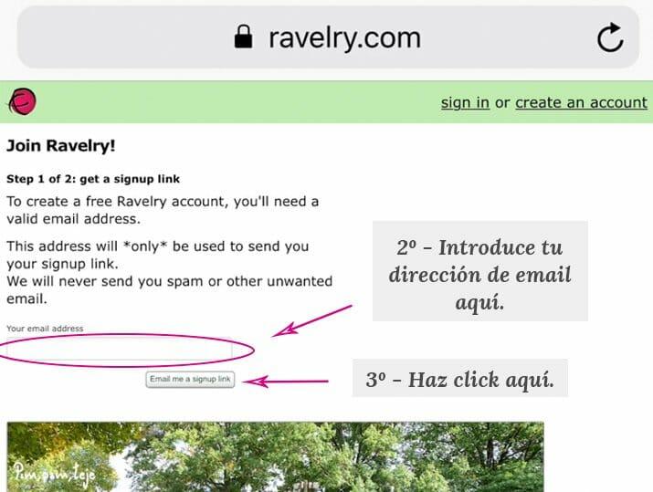 Cómo crear tu cuenta en Ravelry