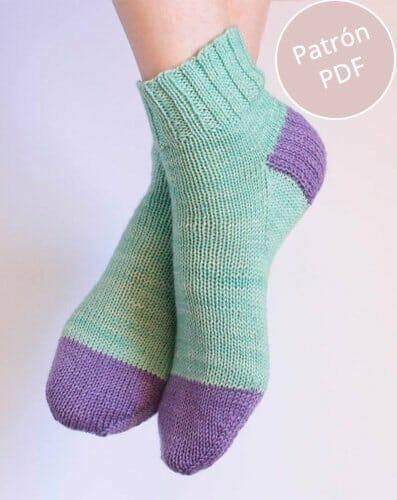 patrón básico calcetines top down