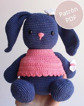 Conejo Amigurumi Tejido A Crochet - $ 660,00 en Mercado Libre | 438x347