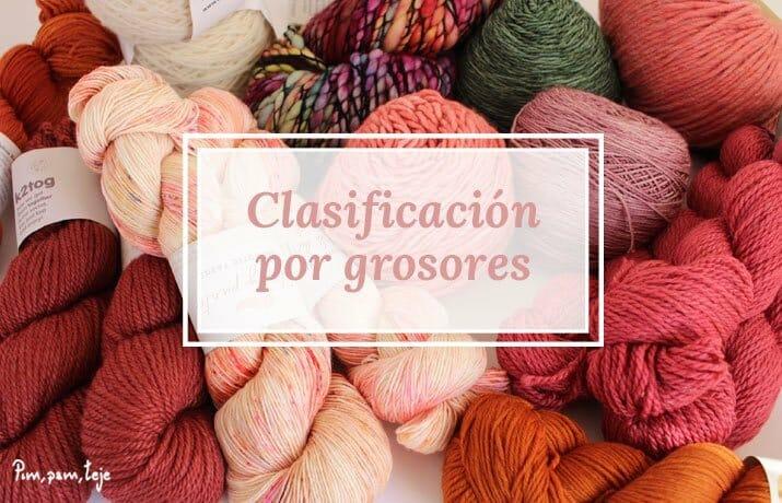 Clasificación de lana por grosores