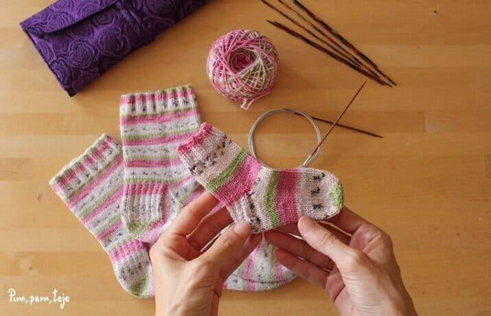 Tablas de medidas para tejer calcetines