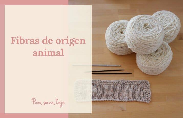 Fibras para tejer, de origen animal