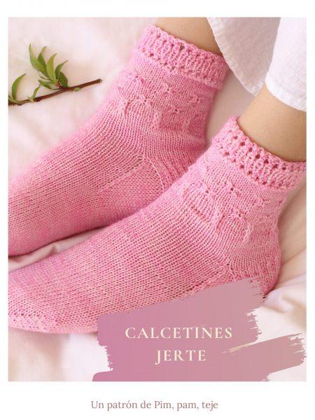 Patrón para tejer calcetines Jerte a dos agujas