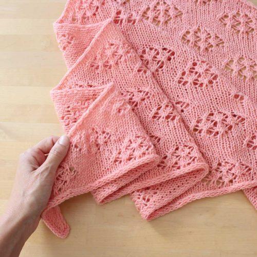 Aprender a tejer encajes en punto a dos agujas
