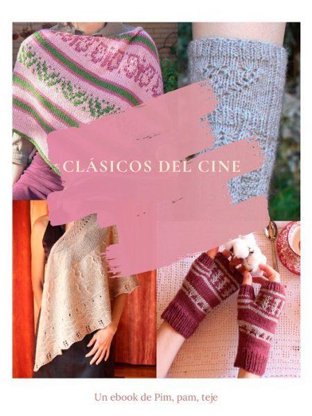 Clásicos del cine - cuatro patrones para tejer puntos deslizados y mosaico.